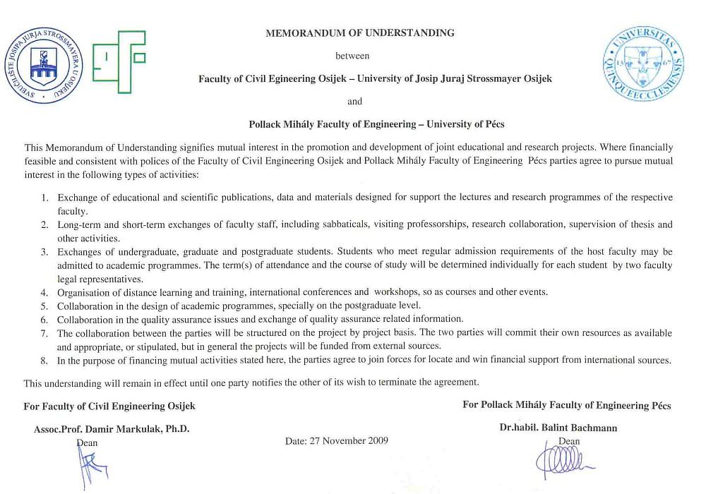 Memorandum o suradnji s Pečuhom